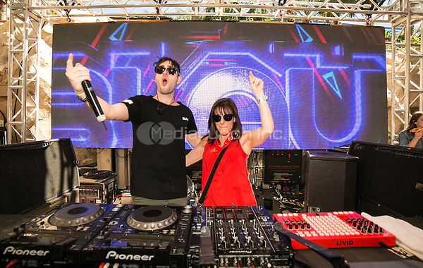 LAS VEGAS, NV - MAY 14:  ***HOUSE COVERAGE*** 3LAU is joined by his mother during his dj set at Rehab Beach Club at The Hard Rock Hotel & Casino in Las Vegas, Nevada on May 14, 2017. Credit: GDP Photos/MediaPunch