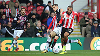 Brentford's Bryan Mbeumo in action during Brentford vs Luton Town, Sky Bet EFL Championship Football at Griffin Park on 30th November 2019