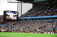 Swansea fans during the Barclays Premier League match between Aston Villa v Swansea City played at the Villa Park Stadium, Birmingham on October 24th 2015