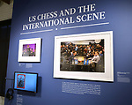 A display at the World Chess Hall of Fame in St. Louis where a new chess history exhibition, US Chess: 80 Years—Promoting the Royal Game in America, opened there with a free opening reception event on March 6, 2019. The chess exhibit will be on display through October 27, 2019. <br /> (Tim Vizer/AP Images for  World Chess Hall of Fame)