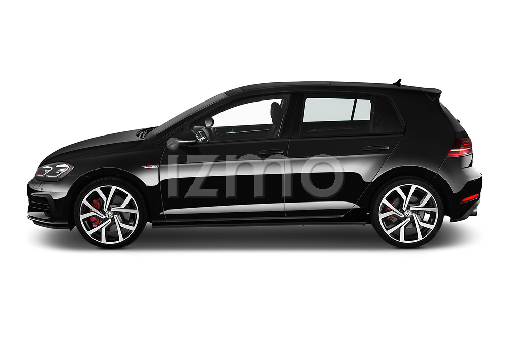 Car Driver side profile view of a 2018 Volkswagen Golf-GTI-Performance - 5 Door Hatchback Side View