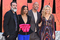 """Jeffrey Dean Morgan, Naomie Harris, Dwayne Johnson and Malin Akerman<br /> arriving for the """"Rampage"""" premiere at the Cineworld Empire Leicester Square, London<br /> <br /> ©Ash Knotek  D3395  11/04/2018"""