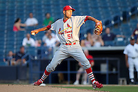 May 21, 2010 Starting Pitcher Brian Broderick of the Palm Beach Cardinals, Florida State League Class-A affiliate of the St.Louis Cardinals, delivers a pitch during a game at George M. Steinbrenner Field in Tampa, FL. Photo by: Mark LoMoglio/Four Seam Images