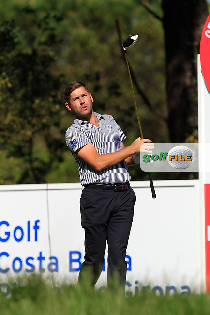 Robert Rock (ENG) on the 14th tee during Thursday's Round 1 of The Open De Espana at The PGA Catalunya Resort. 15th May 2014.<br /> Picture:  Thos Caffrey / www.golffile.ie