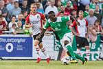 04.09.2018, Hoheellern-Stadion, Leer, GER, FSP, Werder Bremen (GER) vs FC Emmen (NED)<br /> <br /> DFL REGULATIONS PROHIBIT ANY USE OF PHOTOGRAPHS AS IMAGE SEQUENCES AND/OR QUASI-VIDEO.<br /> <br /> im Bild / picture shows<br /> Frank Ronstadt (Werder Bremen II #53) im Duell / im Zweikampf, <br /> <br /> Foto © nordphoto / Ewert