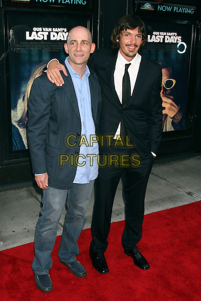 "DANY WOLF & LUKAS HAAS.""Last Days""  Premiere at the Sunshine Theater in New York City..July 19th, 2005.full length arm over shoulder black suit jenas denim.www.capitalpictures.com.sales@capitalpictures.com.©Capital Pictures"