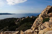 Westküste von La Maddalena, La Maddalena-Archipel (Arcipelago della Maddalena), Provinz Olbia-Tempio, Nord Sardinien, Italien
