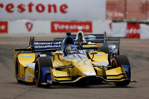 11-13 March, 2016, St Petersburg, Florida USA<br /> 27 Marco Andretti leads 8 Max Chilton<br /> ©2016, Phillip Abbott<br /> LAT Photo USA