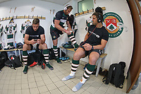 Ealing Trailfinders players warm up ahead of the British & Irish Cup Final match between Ealing Trailfinders and Leinster Rugby at Castle Bar, West Ealing, England  on 12 May 2018. Photo by David Horn / PRiME Media Images.