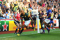 JP Pietersen of South Africa scores a second try during Match 15 of the Rugby World Cup 2015 between South Africa and Samoa - 26/09/2015 - Villa Park, Birmingham<br /> Mandatory Credit: Rob Munro/Stewart Communications