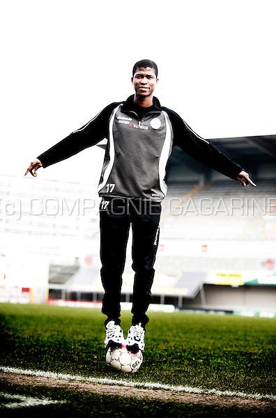 Guinean football player Ibrahima Conté (Belgium, 19/02/2013)