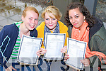 HAPPY TIMES: Mercy Mounthawk students Ciara Rogers, Danielle Carmody and Valerie Kennedy, Tralee, feeling very happy with their Leaving Cert results on Wednesday morning.