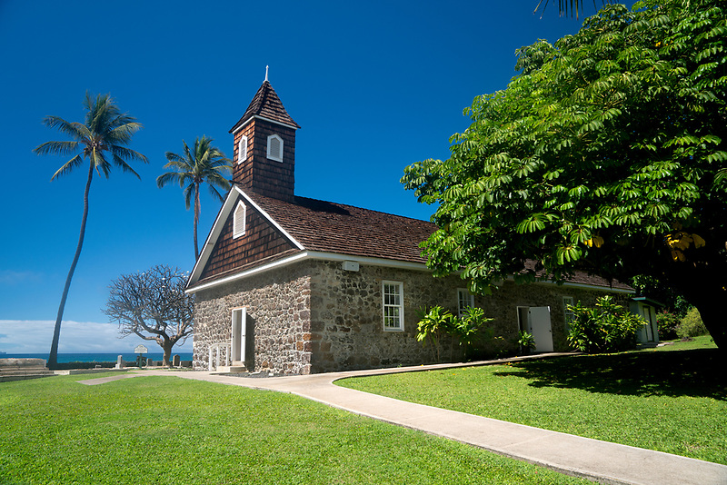 Keawalai church. Mekena, Maui, Hawaii