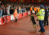 14th September 2017, Emirates Stadium, London, England; UEFA Europa League Group stage, Arsenal versus FC Cologne; Police Dogs are called as the atmosphere hightens with the FC Koln fans