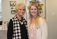 Beverly Engle (left) and Lindsay Aycock attend the CAC open house.<br /> (NWA Democrat-Gazette/Carin Schoppmeyer)