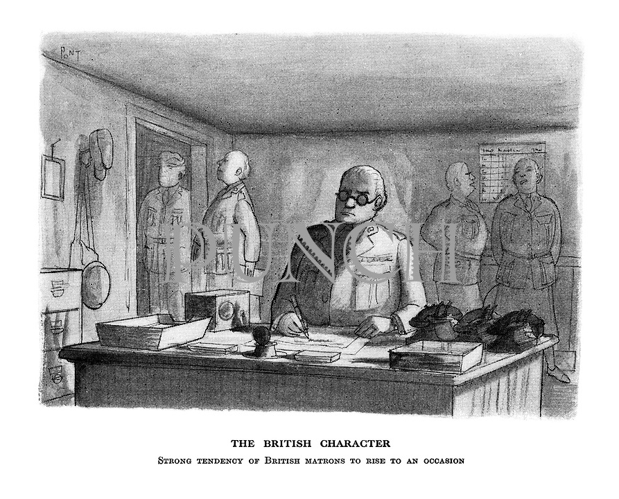 The British Character. Strong tendency of British matrons to rise to an occasion