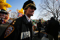Members of the New York Police Department patrol during the 89th Macy's Thanksgiving Annual Day Parade in the Manhattan borough of New York.  11/26/2015. Eduardo MunozAlvarez/VIEWpress