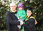 20/1/2015   (with compliments)  Attending the University of limerick conferrings on Monday morning were Eoin and Agnieszka McGrath from Bishopstown, Cork both conferred with a MSc in Strategic Quality Management and their son Michael(2).<br /> Picture Liam Burke/Press 22