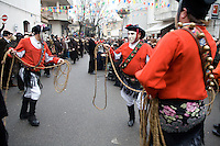 Issohadores is a solemn ceremonial, an orderly procession and dance at the same time.Mamoiada, Italy