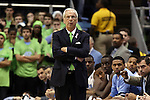 03 December 2014: UNC head coach Roy Williams. The University of North Carolina Tar Heels played the University of Iowa Hawkeyes in an NCAA Division I Men's basketball game at the Dean E. Smith Center in Chapel Hill, North Carolina. Iowa won the game 60-55.