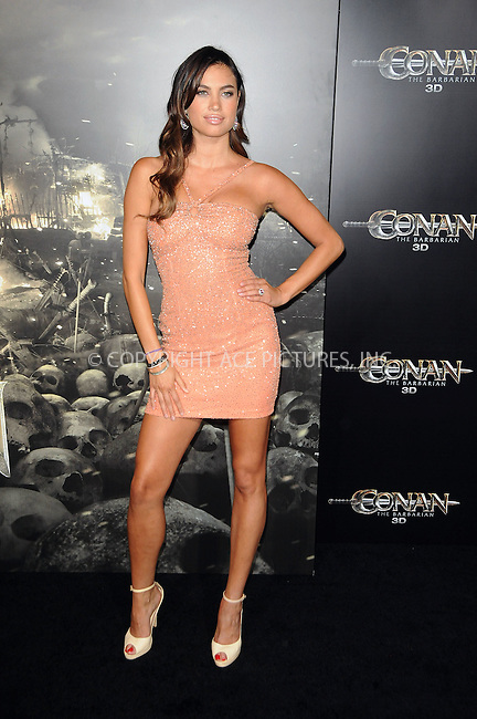 WWW.ACEPIXS.COM . . . . .  ....August 11 2011, LA....Alina Puscau arriving at the premiere 'Conan The Barbarian' on August 11, 2011 in Los Angeles, California....Please byline: PETER WEST - ACE PICTURES.... *** ***..Ace Pictures, Inc:  ..Philip Vaughan (212) 243-8787 or (646) 679 0430..e-mail: info@acepixs.com..web: http://www.acepixs.com