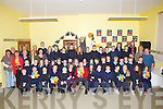 "LAUNCH: Aiden Lucid past pupil of Boiulshere NS and a residenmt of Ballyheigue launches his new book ""The Zargothian Tales"" at Boulshere NS on FRiday with, Teachers, Pupils, Family and frienbds attend the launch at the hall in the school on Friday..."