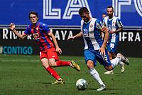 12th July 2020; RCDE Stadium, Barcelona, Catalonia, Spain; La Liga Football, Real Club Deportiu Espanyol de Barcelona versus Sociedad Deportiva Eibar;  David Lopez gets into a position to take a shot