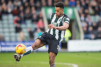 Curtis Nelson of Plymouth Argyle during the Sky Bet League 2 match between Plymouth Argyle and Wycombe Wanderers at Home Park, Plymouth, England on 30 January 2016. Photo by Mark  Hawkins / PRiME Media Images.