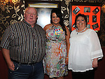 Julieanne McKeown celebrating her 21st birthday in Shearmans bar Dunleer with uncle and aunt Laurence Hoey and Suzanne Shiels. Photo: Colin Bell/pressphotos.ie