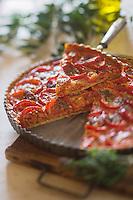 Europe/Provence-Alpes-Côte d'Azur/83/Var/Bormes-les-Mimosas: Tarte aux tomates et oignons confits  recette de Mireille Gedda: L'atelier de  cuisine Gourmande