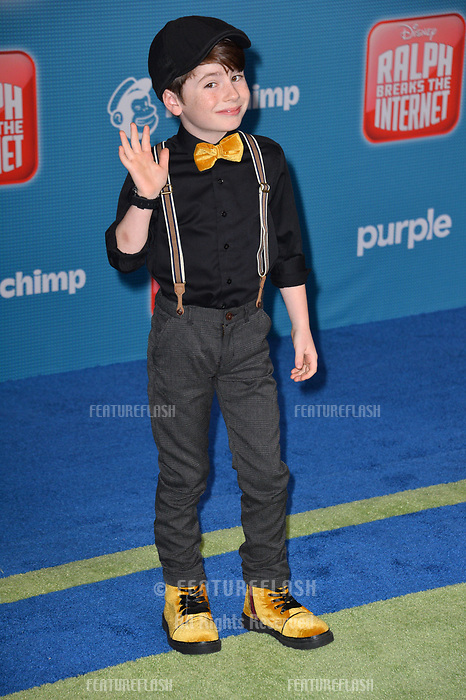LOS ANGELES, CA. November 05, 2018: Paxton Booth at the world premiere of &quot;Ralph Breaks The Internet&quot; at the El Capitan Theatre.<br /> Picture: Paul Smith/Featureflash