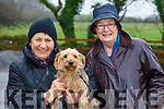 Patsy Barrett and Maureen O'Brien (The Recovery Haven, Tralee), pictured at the Petmania Operation TransPAWmation fundraising walk in Ballyseedy Wood, in aid of the Recovery Haven, Tralee on Sunday morning last.