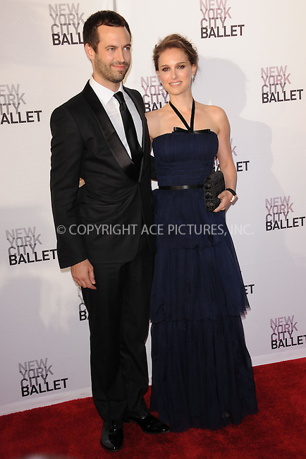 WWW.ACEPIXS.COM . . . . . .May 10, 2012...New York City....Benjamin Millepied and Natalie Portman attending New York City Ballet`s 2012 Spring Gala Performance at the David H. Koch Theater at Lincoln Center on May 10, 2012  in New York City ....Please byline: KRISTIN CALLAHAN - ACEPIXS.COM.. . . . . . ..Ace Pictures, Inc: ..tel: (212) 243 8787 or (646) 769 0430..e-mail: info@acepixs.com..web: http://www.acepixs.com .
