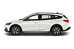 Car driver side profile view of a 2019 Ford Focus-Clipper Active-Business 5 Door Wagon