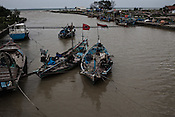 The Suradadi Village harbour in Tegal of Central Java region in Indonesia. Photo: Sanjit Das/Panos