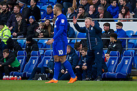 Cardiff City manager Neil Warnock during the Sky Bet Championship match between Cardiff City and Middlesbrough at the Cardiff City Stadium, Cardiff, Wales on 17 February 2018. Photo by Mark Hawkins / PRiME Media Images.