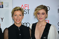 LOS ANGELES, CA. November 16, 2016: Actresses Annette Bening &amp; Greta Gerwig at the gala screening for &quot;20th Century Women&quot;, part of the AFI FEST 2016, at the TCL Chinese Theatre, Hollywood.<br /> Picture: Paul Smith/Featureflash/SilverHub 0208 004 5359/ 07711 972644 Editors@silverhubmedia.com