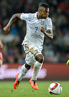 PRAGUE, Czech Republic - September 3, 2014: USA's Joe Gyau during the international friendly match between the Czech Republic and the USA at Generali Arena.