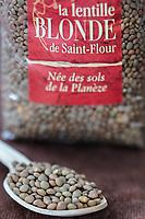 Gastronomie Générale/  Lentille Blonde de Saint Flour ou lentilles blondes de la Planèze // General Gastronomy / Blond Lentils from Saint Flour or Blond Lentils from the Planèze