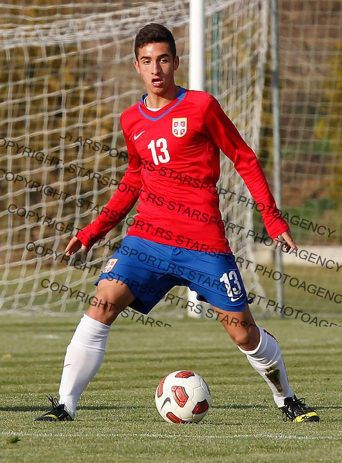 Fudbal  Reprezentacija Srbije<br /> Prijateljski mec Friendly match<br /> Srbija U17 v Croatia U17 <br /> Strahinja Karisic<br /> Beograd, 11.12.2013.<br /> foto: Srdjan Stevanovic/Starsportphoto &copy;