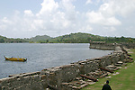 Fort Santiago overlooks Portobello Bay in Panama.