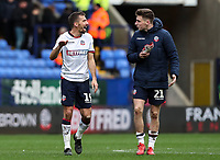 Bolton Wanderers' Gary O'Neil celebrates victory with team mate Joe Williams <br /> <br /> Photographer Andrew Kearns/CameraSport<br /> <br /> The EFL Sky Bet Championship - Bolton Wanderers v Millwall - Saturday 9th March 2019 - University of Bolton Stadium - Bolton <br /> <br /> World Copyright © 2019 CameraSport. All rights reserved. 43 Linden Ave. Countesthorpe. Leicester. England. LE8 5PG - Tel: +44 (0) 116 277 4147 - admin@camerasport.com - www.camerasport.com