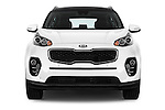 Car photography straight front view of a 2016 KIA Sportage Sense 5 Door Suv Front View