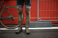 post-race legs<br /> <br /> U23 men's race<br /> <br /> UCI 2016 cyclocross World Championships / Zolder, Belgium