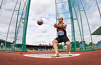 Johannes BICHLER of Germany in the Men's hammer throw during the Muller Grand Prix Birmingham Athletics at Alexandra Stadium, Birmingham, England on 20 August 2017. Photo by Andy Rowland.