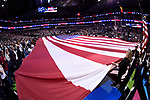 DALLAS, TX - APRIL 2:  The American flag during the National Anthem during the 2017 Women's Final Four at American Airlines Center on April 2, 2017 in Dallas, Texas.  (Photo by Ben Solomon/NCAA Photos via Getty Images)