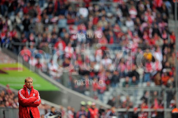 FUSSBALL   1. BUNDESLIGA   SAISON 2008/2009   5. SPIELTAG FC Bayern Muenchen  - Werder Bremen               20.09.2008 Juergen KLINSMANN (Muenchen) enttaeuscht an der Seitenlinie.