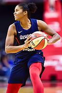 Washington, DC - June 15, 2018: Washington Mystics guard Tierra Ruffin-Pratt (14) handles the ball during game between the Washington Mystics and New York Liberty at the Capital One Arena in Washington, DC. (Photo by Phil Peters/Media Images International)
