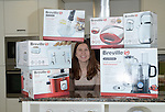 Competition Winner Angela Evans with her prizes <br /> <br /> Kitchen appliance competition -  Redrow Show Homes - Cwm Calon - Ystrad Mynach<br /> <br /> &copy; www.fotowales.com- PLEASE CREDIT IAN COOK