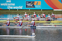 Sarasota. Florida USA.  Top NED W4-. Race for the line as the women's four as all crews close in on the finish line,  USA W4-, Bow.Molly BRUGGEMAN, Kristine O'BRIEN, Erin REELICK and Kendall CHASE Final A.at the  2017 World Rowing Championships, Nathan Benderson Park<br /> <br /> Saturday  30.09.17   <br /> <br /> [Mandatory Credit. Peter SPURRIER/Intersport Images].<br /> <br /> <br /> NIKON CORPORATION -  NIKON D4S  lens  VR 500mm f/4G IF-ED mm. 200 ISO 1/2500/sec. f 4